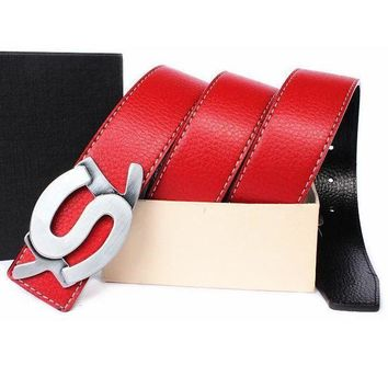 MDIGNQ2 YSL Woman Men Fashion Leather Belt5