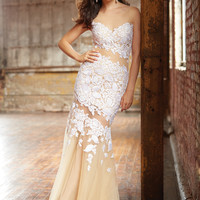 Lace Madison James Prom Mermaid Dress 15-104