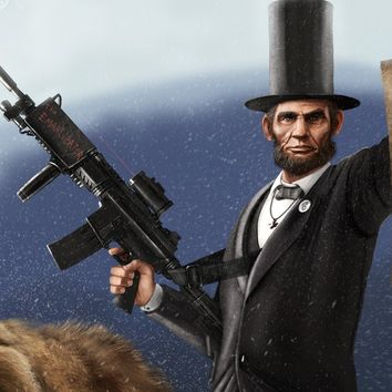 Abe Lincoln Riding a Grizzly