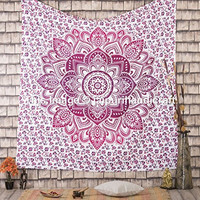 Large Ombre Mandala Tapestry, hippie hippie tapestries, wall hanging, beach blanket, indian bedspread