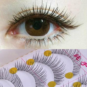 10Pair False Eyelashes Reusable Natural And Regular Long Eyelashes Artificial Fake Eyelashes Makeup Eye Lashes To Build Cilios