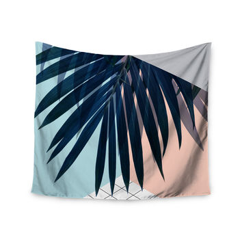 """Cafelab """"Pastel Geometry """" Paech Blue Wall Tapestry"""