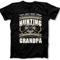 Hunting Shirt Grandpa Gift Ideas Fathers Day T Shirt Hunter Shirt Grandfather TShirt Deer Hunting Shirt Grandpa Clothes Mens Tee TEP-311
