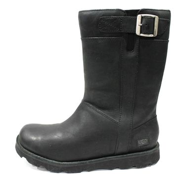 Ugg Men's Britton Black Buckle Leather Tall Boots Model 3026