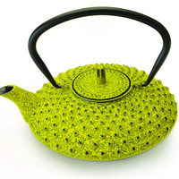 STUDIO Lemon Hobnail Cast Iron Teapot with Infuser 0.85 Qt. (0.8L)