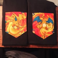 limited Charizard pokemon pocket shirt tee s/m/l/xl