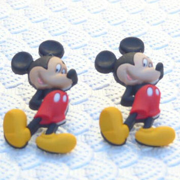 Mickey Mouse with hands behind his back  Stud Earrings