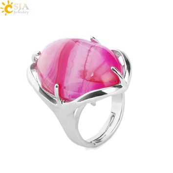 Natural Gem Stone ~ Oval Ring