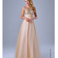 Sweet Nude Embellished Gown