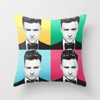 JT **** Throw Pillow by Hands In The Sky