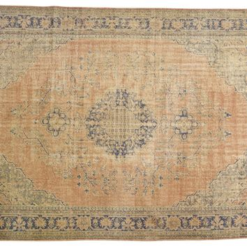 8x11.5 Vintage Distressed Oushak Carpet