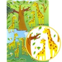 Cartoon Giraffe Illustrated Animal Shaped Jelly Puffy Stickers for Scrapbooking