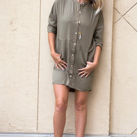 BIANCA OLIVE Shirt Dress