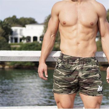 Quick Drying Camouflage Men Training Shorts Gym Athletic Workout Sport Exercise Fitness Sweat Shorts