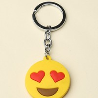 HEART EYES FACE KEYCHAIN