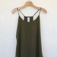 PLUS SIZE CAMI- OLIVE