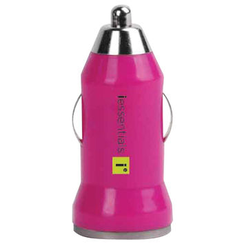 IESSENTIALS iPhone/iPod/Smartphone USB Car Charger (Pink) IEPCPUSBPK IE-PCPUSB-P