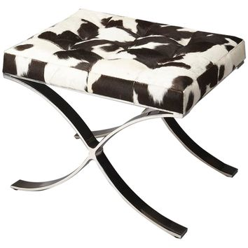 Cortera Hair-On-Hide Vanity Stool