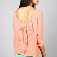 Bow Flutter Blouse | Trendy Clothes at Pink Ice