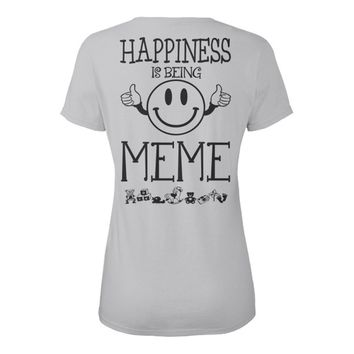 Happiness Is Being Meme Smiley Face - Standard Women's T-shirt