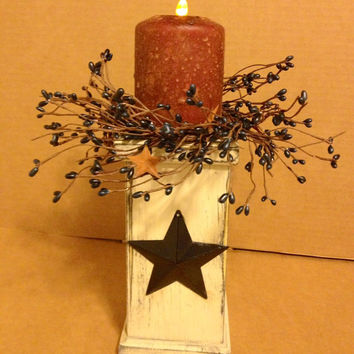 LED Timer Pillar Candle, Apple Cinnamon Scented