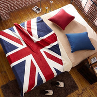 spring autumn velvet British flag Blanket Bedding a13424