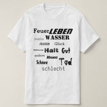 German word Cloud T-Shirt