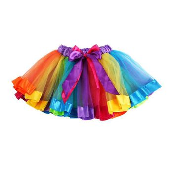 Girls Rainbow Bowknow Tutu/Pettiskirt Various Sizes Available