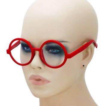 Harry Potter Glasses Frame Nerd Bookworm Dress Up Halloween Round Eye Clear Lens