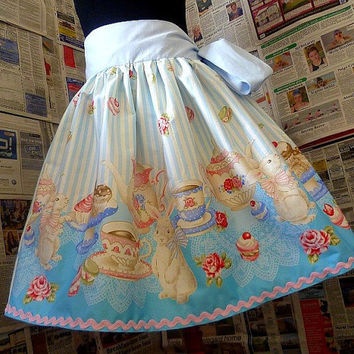 Alice In Wonderland, Tea Party Skirt, Full Skirt, Tea Party Dress,  Fantasy Clothes, Roobys