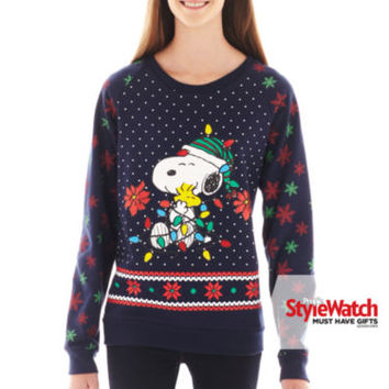 jcpenney peanuts snoopy holiday sweatshirt - Snoopy Christmas Shirt