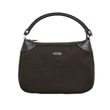 Gucci Brown Canvas Hobo Shoulder Bag Guccissima Leather Handbag 279154
