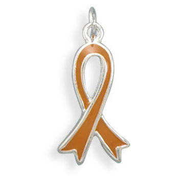 Orange Awareness Ribbon Charm