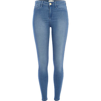 River Island Womens Mid wash Molly reform jeggings