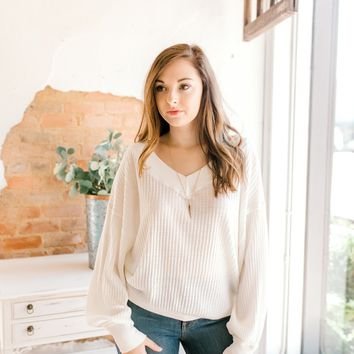 Free People South Side Thermal -Ivory
