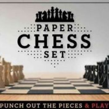 Paper Chess Set: Punch Out the Pieces and Play