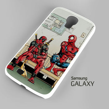 Funny Spiderman and Deadpool Samsung Galaxy S3 S4 S5 Note 3 Cases