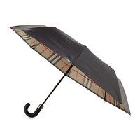 Strand Check-Reverse Umbrella, Camel - Burberry