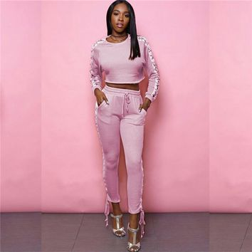 Cropped Lace Up Tracksuit
