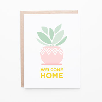 Houseplant new home card