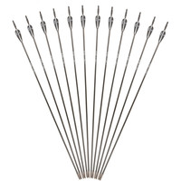 "12 pcs lot 30"" Black and White Fiberglass Arrow Spine1200 for Recurve Bow Archery New Training Archers K"