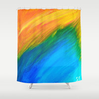 Field of Dreams Shower Curtain by Sierra Christy Art