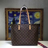 LV Louis Vuitton WOMEN'S MONOGRAM LEATHER NOE HANDBAG
