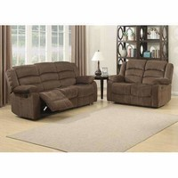 Bill 2 Piece Contemporary Brown Reclining Living Room Set