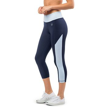 Skipstripe Crop Performance Legging in Nautical Navy by Southern Tide - FINAL SALE