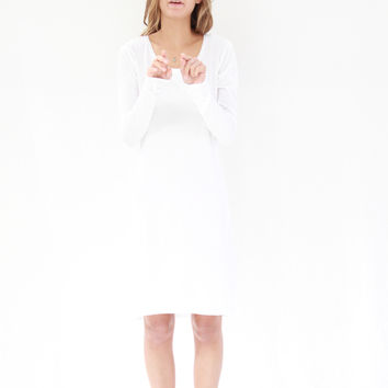 Kowtow Building Block Long Sleeve Dress White