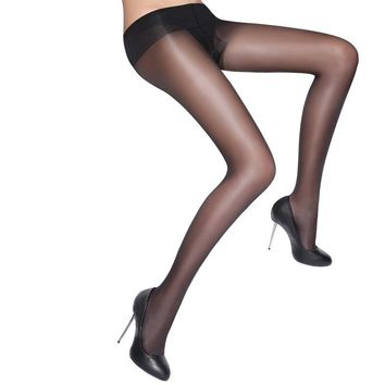 MISILCK 15D nylons lady pantyhose,Leg shaping silk stockings,compression tights fishnet  Summer 2 Pieces