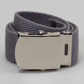 Kids boys or girls Charcoal Gray military belt infants to teens perfect for school