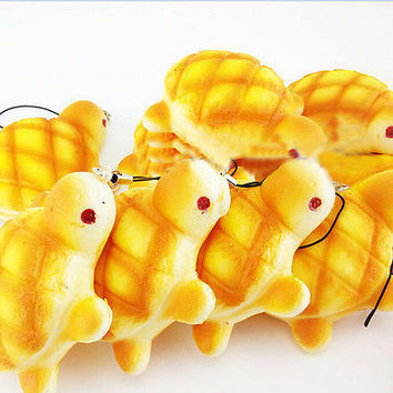 Cute Soft Squishy Charms Kawaii Fat Tortoise Bread Key/Bag/Car/cell Phone Straps