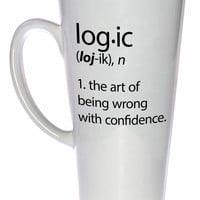 Logic mug - dictionary definition fail funny white ceramic coffee or tea mug